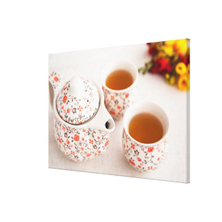 Ceramic Tea Set Canvas Print
