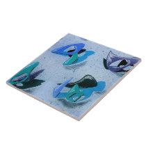 Ceramic Tile : AMOEBA 1 - AQUA MARINE