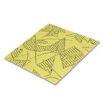 Ceramic Tile : ATOMIC BOOMERANG - LEMON YELLOW