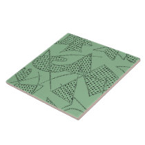Ceramic Tile : ATOMIC BOOMERANG - SEAFOAM GREEN