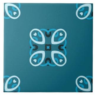 Ceramic Tile- Blue and Teal Pattern