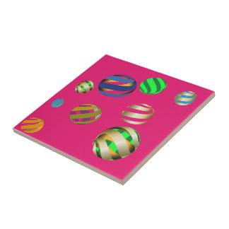 Ceramic tile multicolored balls