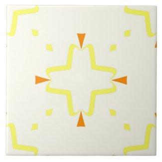 Ceramic Tile- Orange and Yellow Tiled Pattern