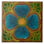 """Ceramic Tile - Reproduction Art Nouveau<br><div class=""""desc"""">Decorative reproduction floral art nouveau tile.</div>"""