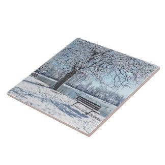ceramic tile/trivet/WINTER MAGIC/SNOW-COVERED PARK Tile