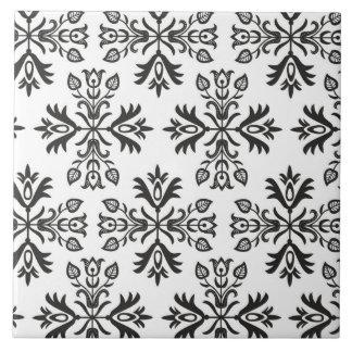 Ceramic tile with polish pattern folk