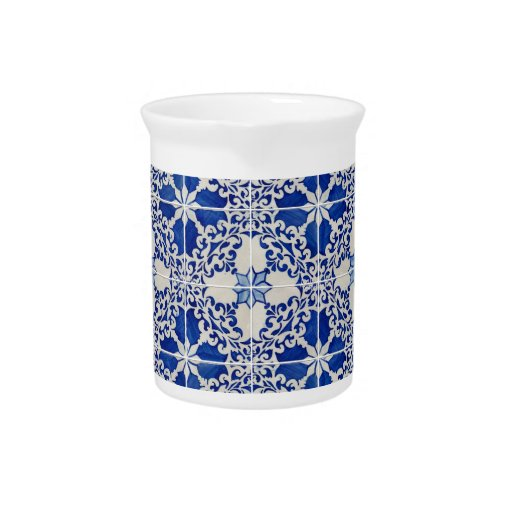 Ceramic tiles beverage pitchers