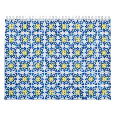Ceramic tiles calendar