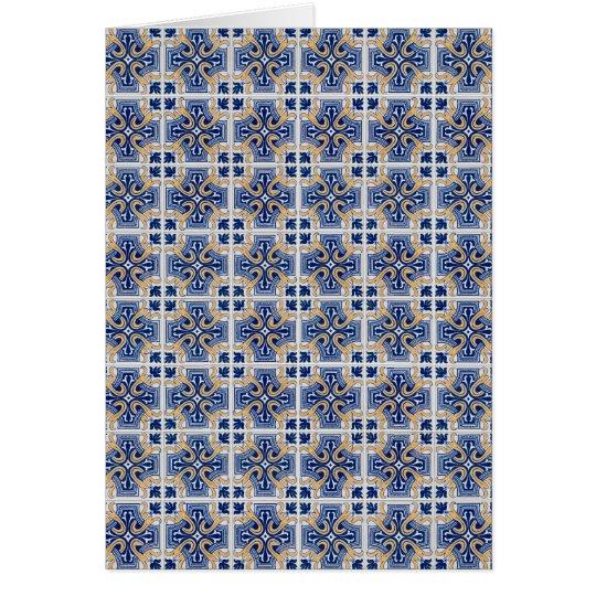 Ceramic tiles card