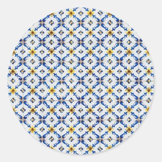 Ceramic tiles classic round sticker