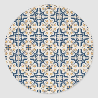Ceramic tiles classic round sticker