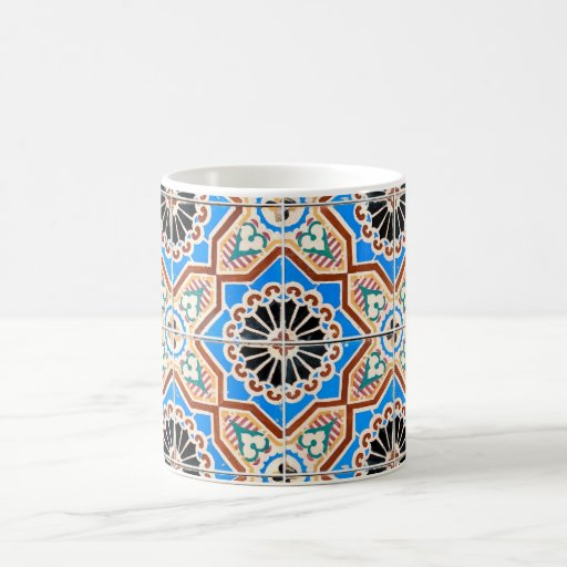 Ceramic tiles classic white coffee mug