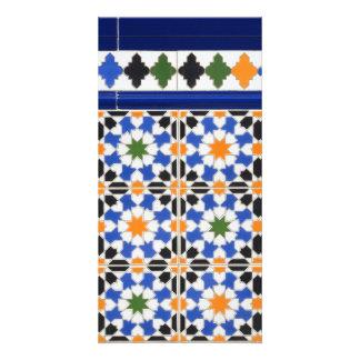 Ceramic tiles from Granada photocard Card