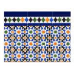 Ceramic tiles from Granada postcard