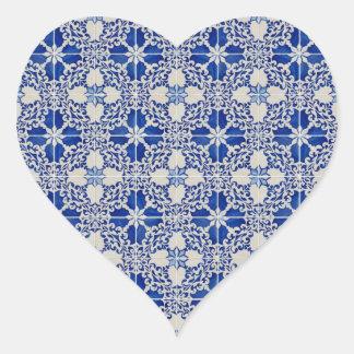 Ceramic tiles heart sticker