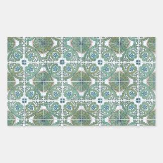 Ceramic tiles rectangular sticker