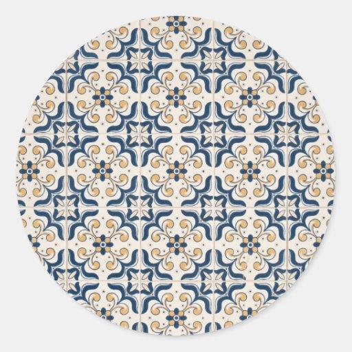 Ceramic tiles round stickers