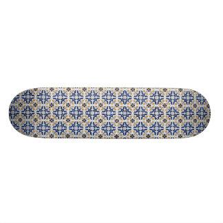 Ceramic tiles skateboard deck