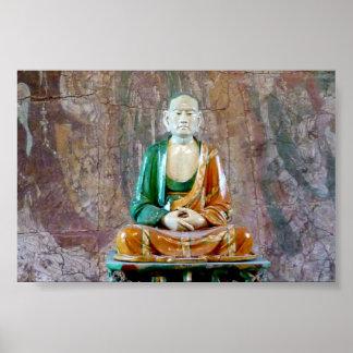 Cerámica antigua Buda Poster