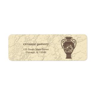 Cerámica de cerámica etiqueta de remite