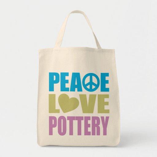 Cerámica del amor de la paz bolsa tela para la compra