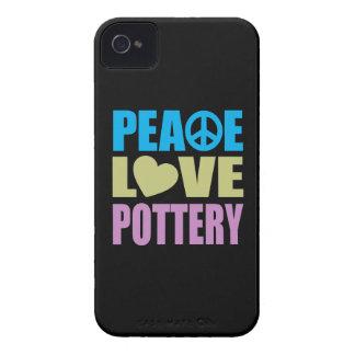 Cerámica del amor de la paz Case-Mate iPhone 4 coberturas