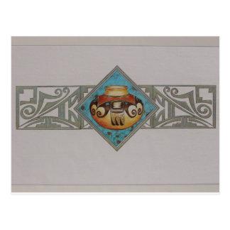 Cerámica del nativo americano postal
