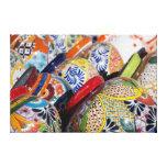 Cerámica mexicana pintada a mano tradicional lienzo envuelto para galerias