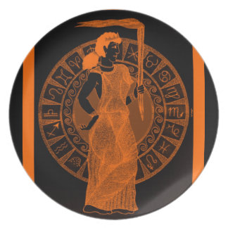 Cerámica negra de Greeking Platos De Comidas