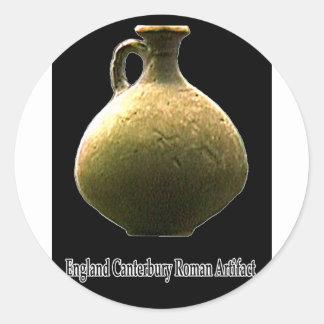 Cerámica romana del artefacto de Inglaterra Pegatina Redonda