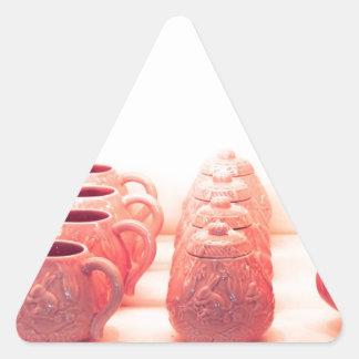 Cerámica rosada pegatina triangular