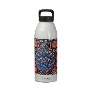 Cerámica turca tribal étnica floral del mosaico de botallas de agua