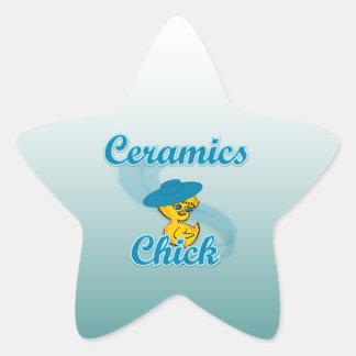 Ceramics Chick #3 Star Stickers