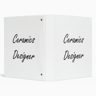 Ceramics Designer Artistic Job Design Vinyl Binder