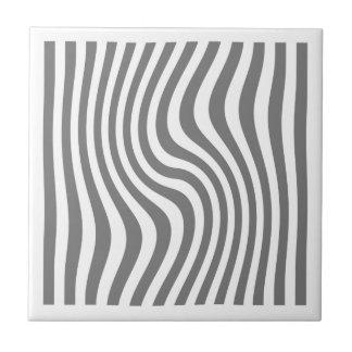 "Ceramics square ""Streaked"" - gray Colour Small Square Tile"