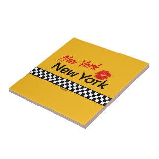 Ceramics square Taxi NY & Red KIS Ceramic Tile