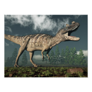 Ceratosaurus dinosaur - 3D render Poster