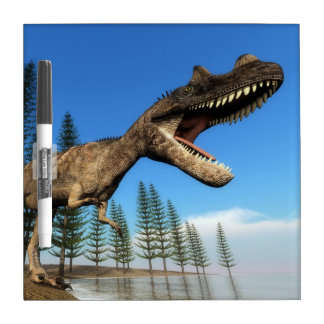 Ceratosaurus dinosaur at the shoreline - 3D render Dry-Erase Board