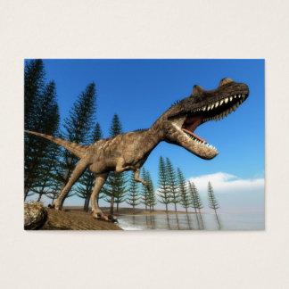 Ceratosaurus dinosaur at the shoreline business card