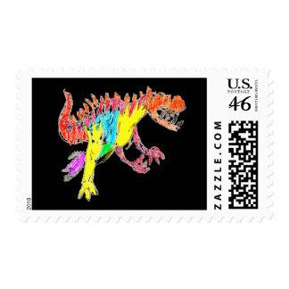 Ceratosaurus Postage Stamp