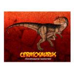 Ceratosaurus Tarjeta Postal