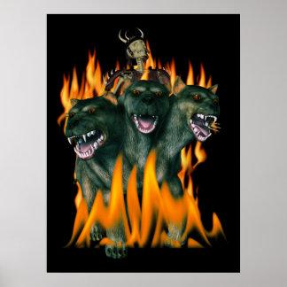 Cerberus en infierno poster