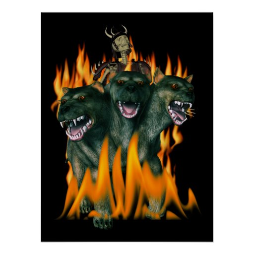 Cerberus In Hell Posters