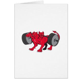 Cerberus Multi-headed Dog Hellhound Powerlifting B Card