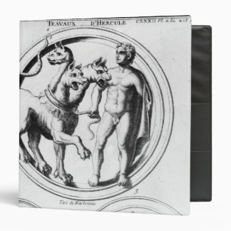 Cerberus Tamed by Hercules 3 Ring Binder