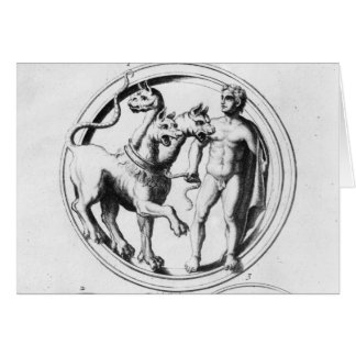 Cerberus Tamed by Hercules Card