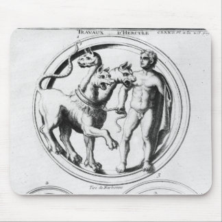 Cerberus Tamed by Hercules Mouse Pad