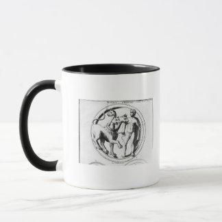 Cerberus Tamed by Hercules Mug