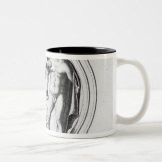 Cerberus Tamed by Hercules Two-Tone Coffee Mug