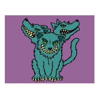 Cerberus - The Three Headed Hell Hound Postcard